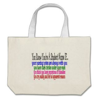 Funny Student Nurse Sayings T Shirts and Gifts Tote Bags
