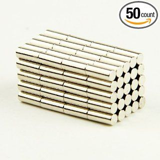 Lot 50pcs D0.0787x0.197inch Cylinder Magnets Neodymium Fridge Rare Earth Strong N35 Industrial Rare Earth Magnets