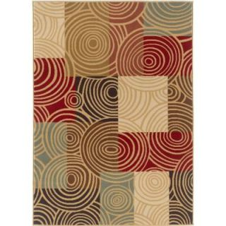 Tayse Rugs Laguna Multi 7 ft. 6 in. x 9 ft. 10 in. Contemporary Area Rug 4530  Multi  8x10