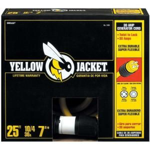 YELLOW JACKET 25 ft. 10/4 STW 30 Amp Generator Cord 1493