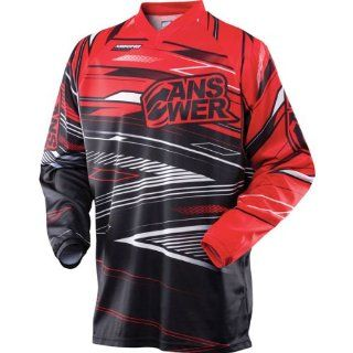 Answer A13 Syncron Jersey , Distinct Name Red, Primary Color Black, Size Lg, Gender Mens/Unisex 457871 Automotive