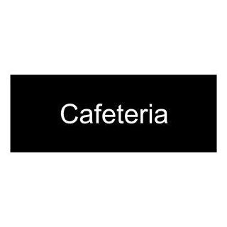 Cafeteria White on Black Engraved Sign EGRE 270 WHTonBLK Wayfinding  Business And Store Signs