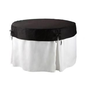 Lifetime 60 in. Round Table in White Table Cloth with Black Topper 1117783