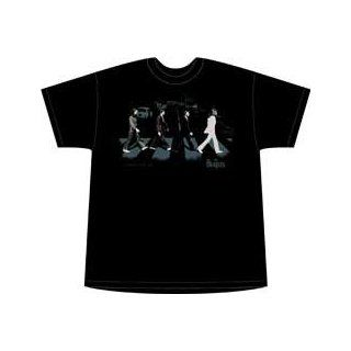 The Beatles Abbey Road Stride T Shirt   Blackest Black   X Large Clothing