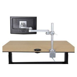 Sunway FPA850VC LCD Flat Panel Computer Monitor Arm Mount w/ Dual Arm Connection & Clamp Mount  Computer Monitor Stands