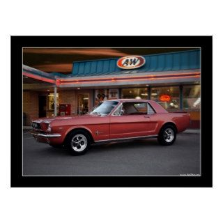 1966 Ford Mustang Coupe Classic Car Poster