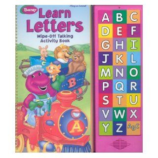 Barney Learn Letters Wipe Off Talking Activity Book (Play a Sound) Darren McKee 9780785363965 Books