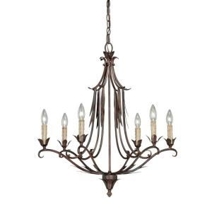 Hampton Bay Pinnacle 6 Light Mahogany Bronze Chandelier N0508