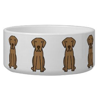 Chesapeake Bay Retriever Dog Cartoon Dog Food Bowls