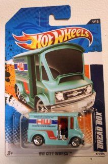 Hot Wheels 2011   HW City Works 1/10   Bread Box (Aqua Blue) 171/244 Toys & Games