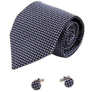 Black Pattern Designer for Men Grey Father Day Gift Formalwear Silk Necktie Cufflinks Set A1115 One Size Black, Silver at  Men�s Clothing store Cuff Links Lawyer