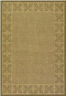 "Couristan Recife Summer Chimes 1523/0712 8'6"" x 13'0"" Natural / Cocoa Area Rug"
