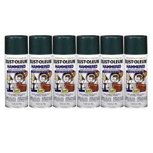 Rust Oleum Stops Rust 12 oz. Gloss Deep Green Hammered Spray Paint (6 Pack) DISCONTINUED 182786
