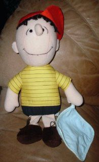 "Very Rare Peanuts Snoopy 14"" Plush Soft Doll Linus Van Pelt with Blanket Toys & Games"