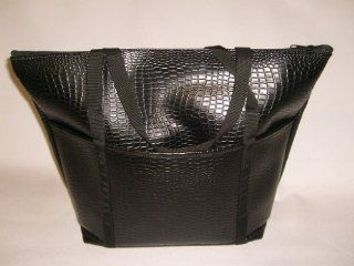Tote Bag, ladies Tote Perfect Weekend Bags, italian Lizard, Black Fully Lined U.s.made  Cosmetic Tote Bags  Beauty