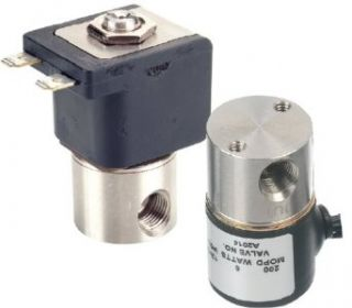 "Gems Sensors A2013 C203 303 Stainless Steel General Purpose Solenoid Valve, 300 psig Pressure, 0.065 Cv, 1/16"" Orifice, 12 VDC Voltage Industrial Solenoid Valves"