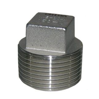 LASCO 32 2991 1 Inch Male Pipe Thread Type 304 Stainless Steel Square Head Plug   Pipe Fittings