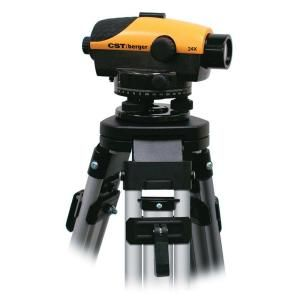 CST/Berger 24X PAL Series Magnetically Dampened Automatic Level Kit with Tripod and Rod in Degree 55 PLVP24D