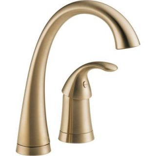 Delta Pilar Waterfall Single Handle Bar Faucet in Champagne Bronze 1980 CZ DST