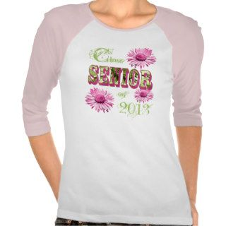 Class of 2013 Senior Daisies Baseball T Shirt