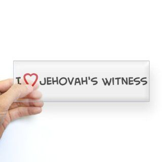 I Love Jehovah's Witness Bumper Sticker Sticker Bumper   Standard   Wall Decor Stickers