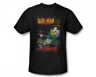 DC Comics Batman Vs. Joker WRONG SIGNAL Adult Black T shirt Tee Shirt Clothing