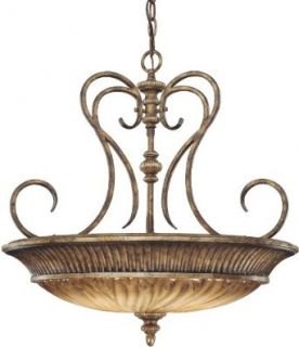Minka Lavery 967 243 Three Light Pendant from the Raffine Collection, Raffine Aged Patina   Ceiling Pendant Fixtures