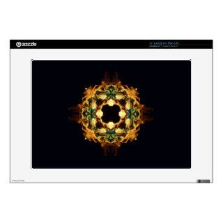 Butterfly Flames Fire Kaleidoscope Mandala Laptop Decal