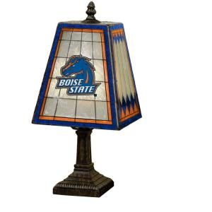 The Memory Company NCAA 14 in. Boise State Broncos Art Glass Table Lamp COL BOS 462