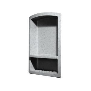 Swanstone Recessed Wall Mount Solid Surface Soap Dish and Accessory Shelf in Tahiti Gray RS 2215 053