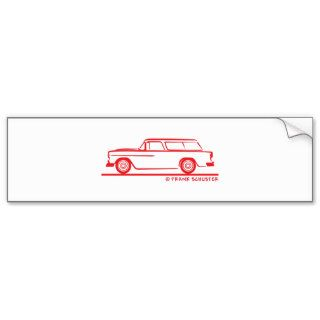 1955 Chevy Nomad Bel Air Bumper Stickers