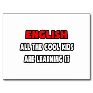 Funny English Teacher Shirts and Gifts Post Card