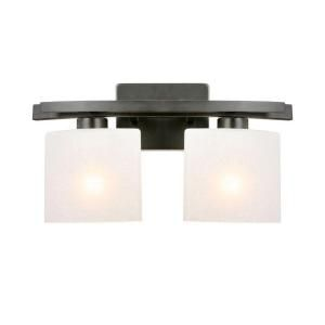 Hampton Bay Ettrick 2 Light Oil Rubbed Bronze Wall Sconce DTH1312A 3