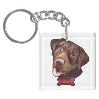 Labrador retriever dog Keychains
