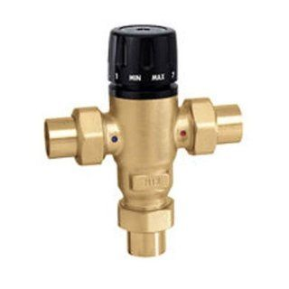 "MixingCal 3 Way Thermostatic Mixing Valve, Low Lead Brass 3/4"" Sweat Connections, 3 Cv   Ducting Components"