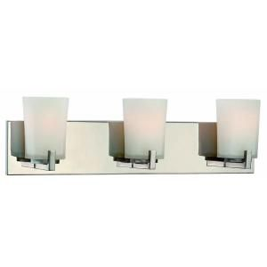 Hampton Bay Wellman 3 Light Polished Nickel Bath Light 15223
