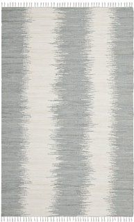Safavieh MTK751K Montauk Collection Hand Woven Cotton Area Runner, 2 Feet 6 Inch by 4 Feet, Grey   Rug Runner