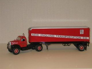 First Gear Die Cast, 19 1478, 1960 B 61 Mack Tractor and Trailer with New England Transportation Logo, 1/34th Scale Toys & Games