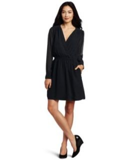 BCBGeneration Women's Black Blouse Sleeve Dress, Black, XX Small