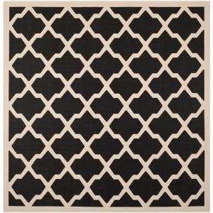 Safavieh Courtyard Black/Beige 5.3 ft. x 5.3 ft. Square Area Rug CY6903 266 5SQ