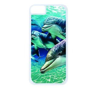 Dolphins White Tough Plastic Outer Case with Black Rubber Lining for Apple Iphone 4 (Double Layer Case with Silicone Protection), Iphone 4s Universal Verizon   Sprint   At&t   Great Affordable Gift Cell Phones & Accessories