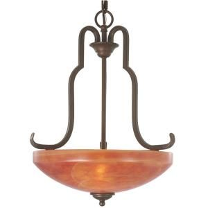 Hampton Bay Aspen 3 Light Heritage Bronze Pendant 14806