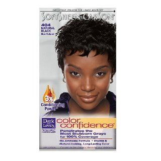 Dark and Lovely Permanent Haircolor, 404 Natural Black 1 kit Health & Personal Care