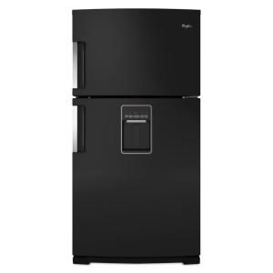 Whirlpool Gold 21.2 cu. ft. Top Freezer Refrigerator in Black WRT771REYB