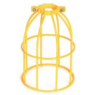 Woodhead 362V Safety Yellow Stringlight Guard, Commercial Duty, Metal Wire Guard, Vinyl Coated, A23 Lamp Type Portable Work Lights