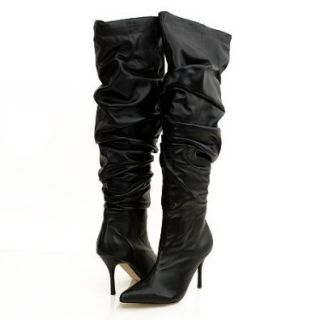 Damita K. Estella12 Knee High Boots Black Shoes