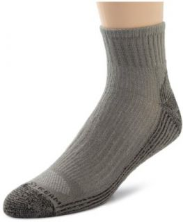 Field & Stream Men's 2 Pack Cotton Coolmax Lycra Blend Quarter Socks, Grey, 10/13 Clothing