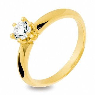 0.5CT Solitaire Diamond 18K Yellow Gold Engagement Ring Size P 7.75 18Y24671A50 Jewelry