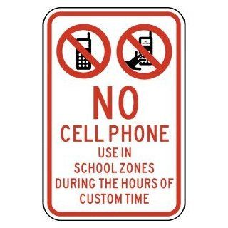 No Cell Phone Use In School Zones Sign PKE 14127 Cell Phones  Business And Store Signs