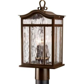 Progress Lighting Meadowlark Collection Oil Rubbed Bronze 3 light Post Lantern P5468 108